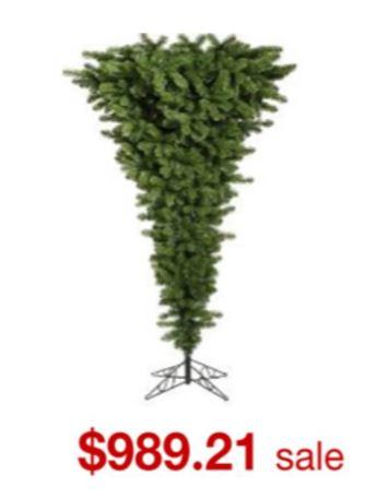 逆さまクリスマスツリー