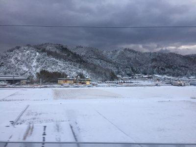 米原地区雪の影響
